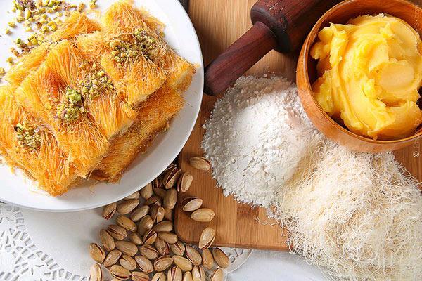 شیرینی کنافه دسر پنیری ترکیه