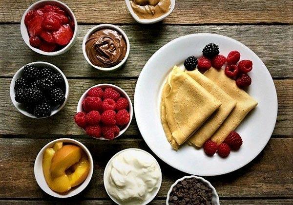 کرپ با مغز شکلات صبحانه فرانسوی