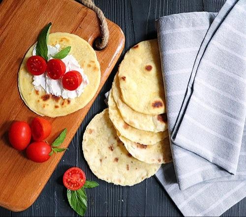 نان ذرت مکزیکی ساده و بدون فر