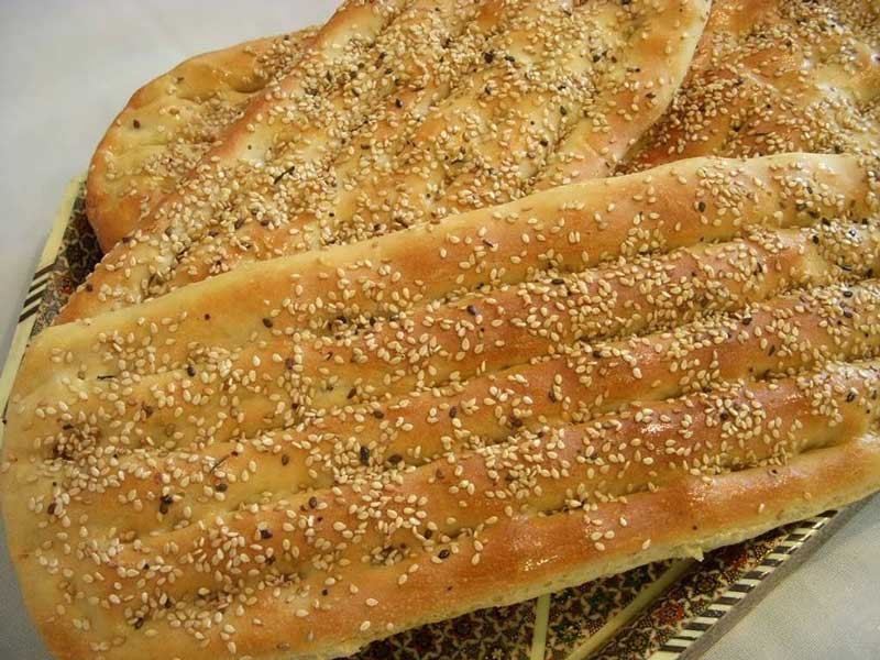 نان بربری خانگی