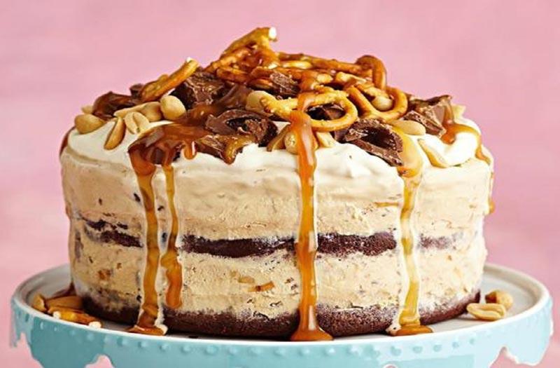کیک بستنی خانگی