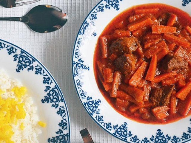 خورشت هویج ترکی