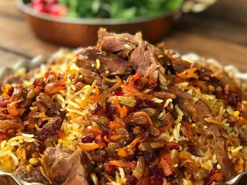 مانی پلو غذای محلی دامغان