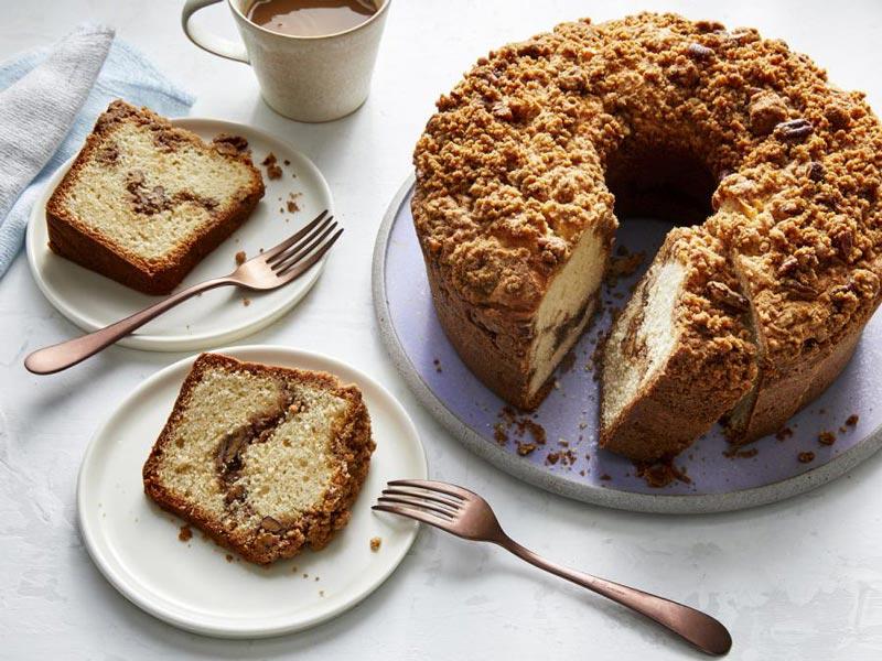 کیک قهوه دارچینی