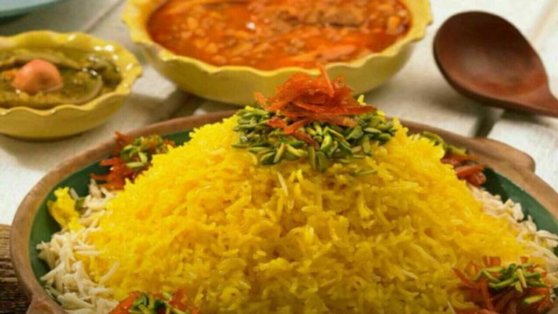 شکر پلو غذای محلی شیرازی