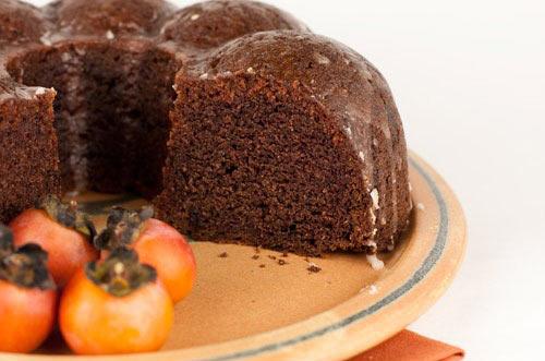 کیک خرمالو طعم و رنگ پاییزی