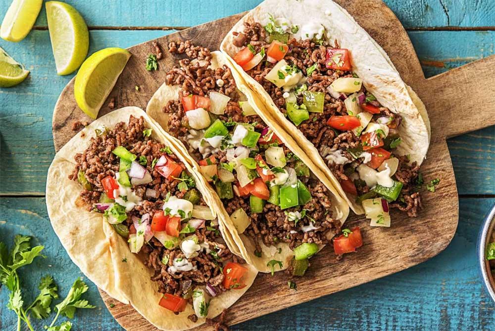 تاکو غذای محبوب مکزیکی